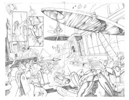 Alien Siege to Egypt Pencils by ernesin149