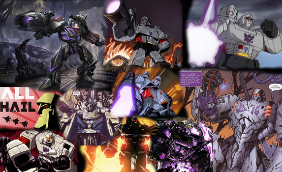 Trubute to Megatron. The Decepticon king. by ShadowyDarkStar