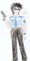Humanized Enzo Sharplights - Police officer by FoxBluereaver