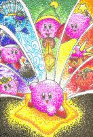 Rainbow Kirby by gerugeon