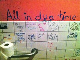 How much time is spent in this bathroom by samplemorsecode