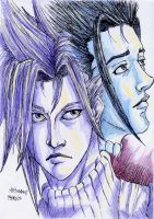 cloud and zack by arthemis92