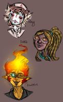 HeadShot Series: Angels, Squids and Flames by BitterBile