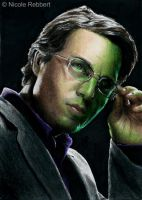 Bruce Banner (Hulk) sketch card by Quelchii