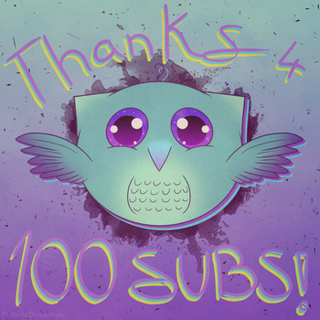 Cute Little Owl Doodle - 100 Subs by PolarisDrawings