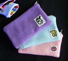 Tamagotchi Pouches by coconut-lane