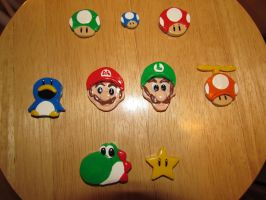 Mario Magnets by cozjetez