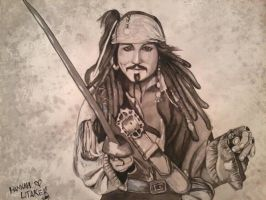Jack Sparrow Ink Wash by HanBO-Hobbit