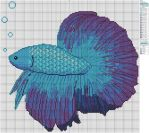 Betta Fish by Makibird-Stitching