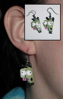 Invader Zim-Inspired GIR Earrings by UniqueTreats
