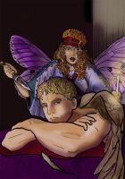 Cupid and Psyche by rainrach