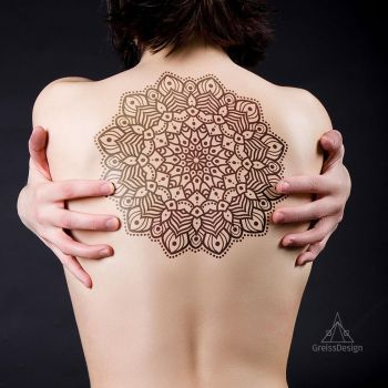 Mandala Tattoo illustration by greissdesign