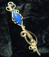 vintage marquis lapis in gold by DPBJewelry