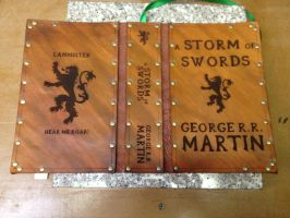 Leather cover for A Storm of Swords by Photoguy42