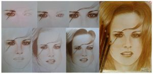 Kristen Stewart WIP by doodlingsketch