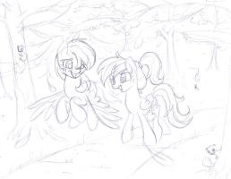 Walk Through the Park Sketch by frostykat13