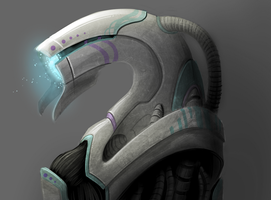 Mass Effect Self Portrait : Geth by LadyBloodFlower
