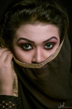 Eyes of Dark Beauty by Koustubh-Dhar-Wrick