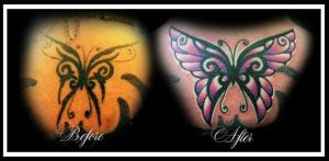Tribal Butterfly Cover-up by Lawlfox