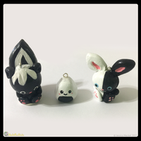 Skunk Sushi and Bunny Charm by MeckelFoxStudio