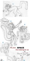 TOTALLY AWESOME LEMUR SKETCHES by Zahzumafoo