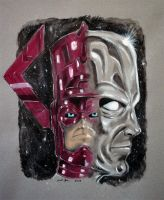 Galactus and Silver Surfer by unbounddreams
