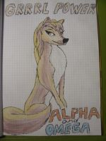 Alpha and Omega Kate in colour by MsKitti3
