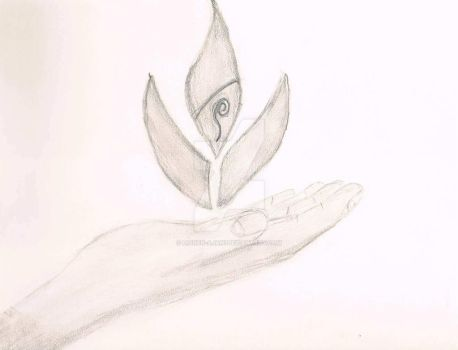 Fire nation hand pencil by lionen-ajani