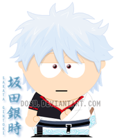 Gintoki -Gintama- South Park by Dosu