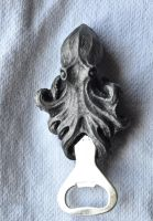 Kraken bottle opener front view by DellamorteCo