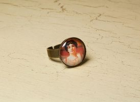 Lady portrait ring by skuggsida