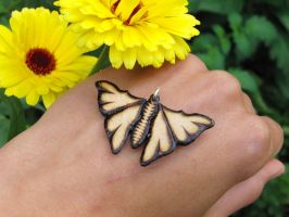 Wooden butterfly pendant by EerinVink