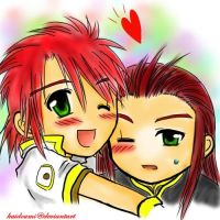 Chibi Luke and Asch :: Hug by kaidoumi