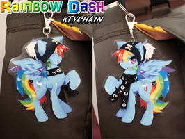 Rainbow Dash keychain by Jeniak