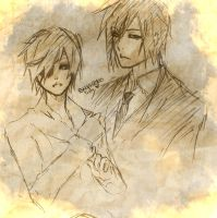 Sketch - Sebastian and Ciel - New by ShaniNeko