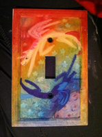Celestia and Luna Lightswitch Cover by maybecatie
