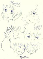 NaruHina Sketches by jOgArI-1030