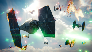 Star Wars 7 Tie Fighter War Fan Art. by CG-Geek