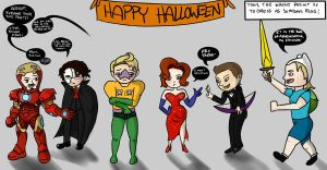 Avengers- Halloween Party by Arei-chan