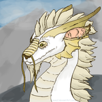 Onikhah the White Dragon by rooey1