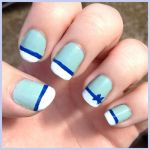 Blue Bow Nail Art by Miss-Reptilian