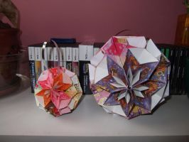 Kusudama Cherry Blossoms by Seraphim-Sisters