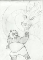 random dragon and panda by zimaro