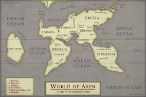 Aren World Map by Osmatar