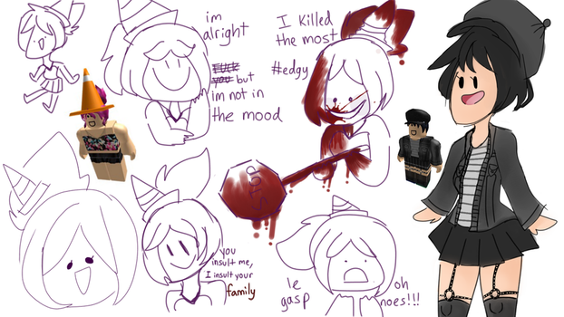 Roblox character doodles by ROBLOX-t1ffanyOMG