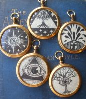 Esoteric drawing fob pendants by VonMonkey