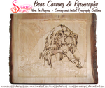 Bear Carving and Pyrography WIP 05 by snazzie-designz