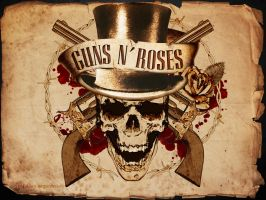 Guns N' Roses old paper by FabianAU