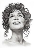 Whitney Houston by lindabowen