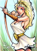 Artemis Sketch Card - Axebone by Pernastudios
